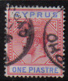 Cyprus Stamps SG 077 1912 One Piastre - Used (d065)