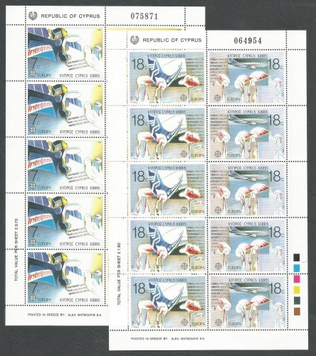 Cyprus Stamps SG 718-21 1988 Europa Transport - Full sheets MINT (k360)