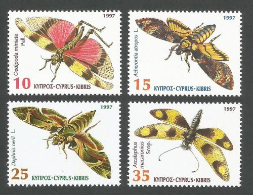 Cyprus Stamps SG 926-29 1997 Insects Moths - MINT