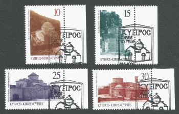 Cyprus Stamps SG 1000-03 2000 Greek Orthodox churches in northern Cyprus - CTO USED (k383)