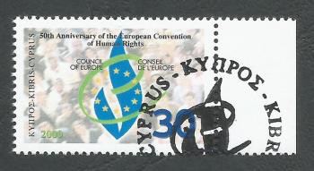 Cyprus Stamps SG 1004 2000 50th Anniversary of Human Rights - CTO USED (k384)
