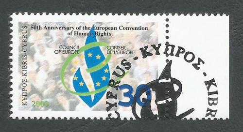 Cyprus Stamps SG 1004 2000 50th Anniversary of Human Rights - CTO USED (k38