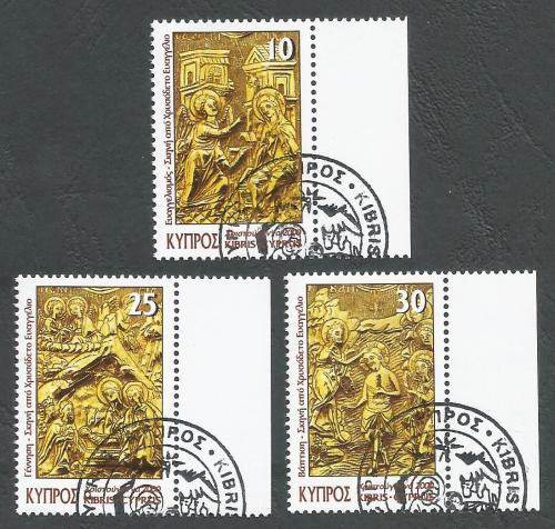 Cyprus Stamps SG 1009-11 2000 Christmas - CTO USED (k385)