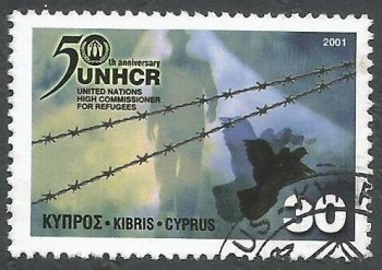 Cyprus Stamps SG 1013 2001 UN High Commissioner for refugees - USED (k386)