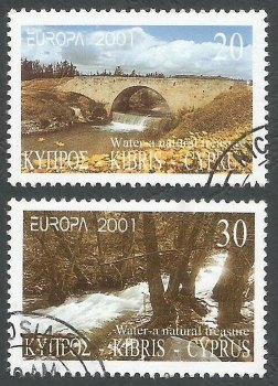 Cyprus Stamps SG 1015-16 2000 Europa Cypriot Rivers - USED (k388)