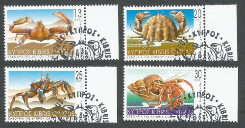 Cyprus Stamps SG 1017-20 2001 Crabs of Cyprus - CTO USED