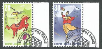 Cyprus Stamps SG 1029-30 2000 Europa Circus - CTO USED (k392)