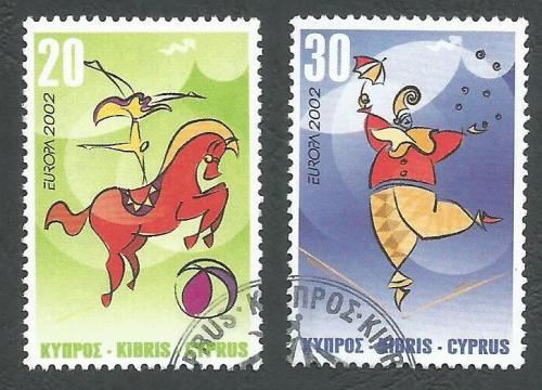 Cyprus Stamps SG 1029-30 2000 Europa Circus - USED (k391)