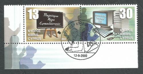 Cyprus Stamps SG 1036-37 2002 Teachers Day - CTO USED