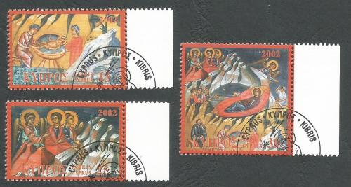 Cyprus Stamps SG 1045-47 2002 Christmas - CTO USED