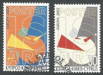Cyprus Stamps SG 1051-52 2003 Europa Poster Art - USED (k397)