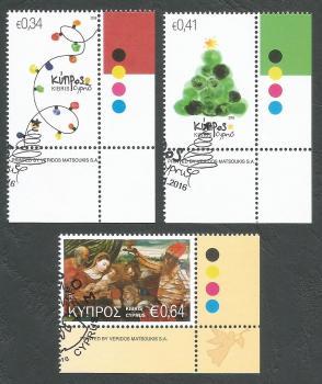Cyprus Stamps SG 1405-07 2016 Christmas - CTO USED (k405)