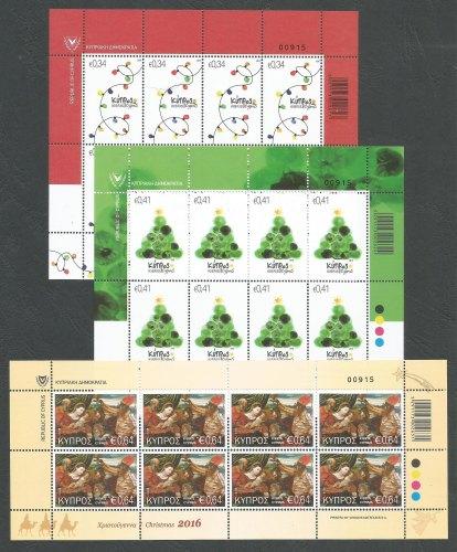Cyprus Stamps SG 2016 (i) Christmas - Full sheet MINT