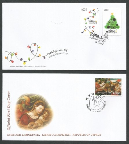 Cyprus Stamps SG 2016 (i) Christmas - Official FDC
