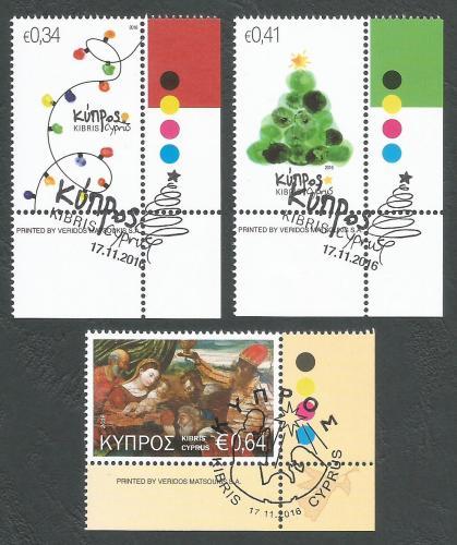 Cyprus Stamps SG 2016 (i) Christmas - CTO USED (k403)