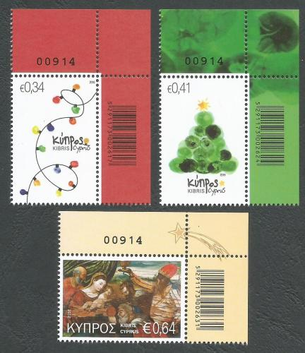 Cyprus Stamps SG 2016 (i) Christmas - Control numbers MINT