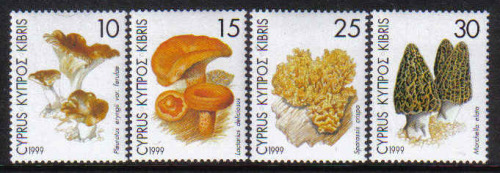 Cyprus Stamps SG 965-68 1999 Mushrooms - MINT