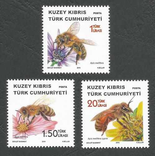 North Cyprus Stamps SG 2016 (f) Bees - MINT