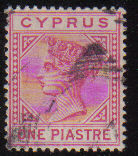 Cyprus Stamps SG 018 1883 One 1 Piastre - USED (d129)