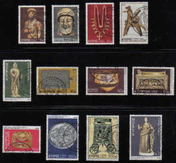 Cyprus Stamps SG 459-70 1976 4th Definitives Artifacts - USED (d130)