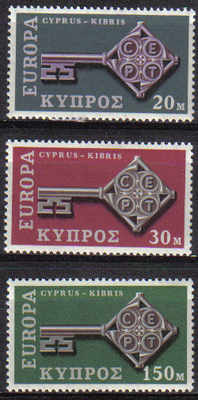Cyprus stamps SG 319-21 1968 Europa Key - MLH
