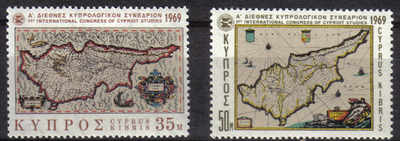 Cyprus stamps SG 329-30 1969 1st Cypriot studies - MLH
