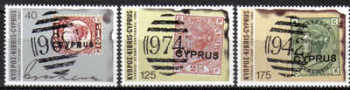 Cyprus Stamps SG 536-38 1980 Stamp centenary - MLH