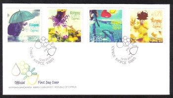 Cyprus Stamps SG 1315-18 2014 The four seasons of the year - Official FDC