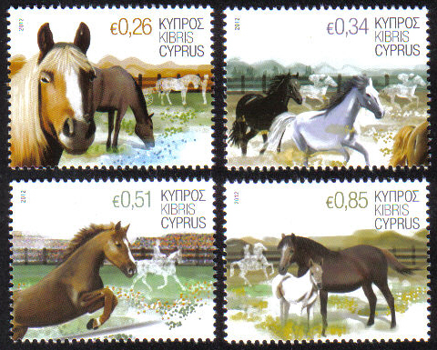 Cyprus Stamps SG 1266-69 2012 Horses - MINT