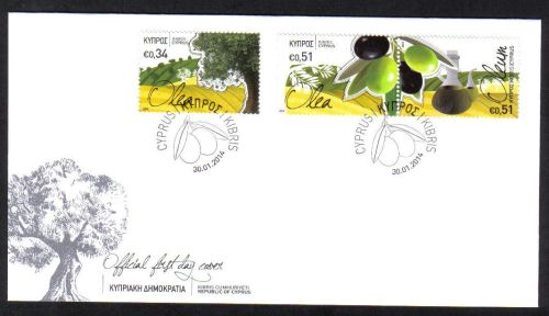 Cyprus Stamps SG 2014 (a) The Olive tree and its products - Official FDC