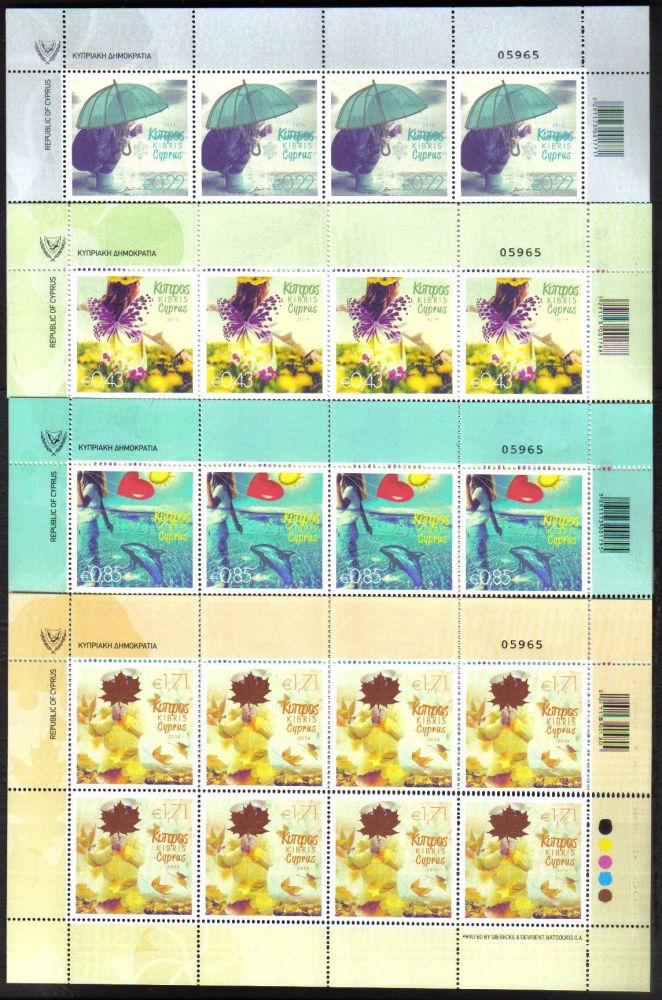 Cyprus Stamps SG 2014 (b)  The Four Seasons of the Year - Full Sheets MINT