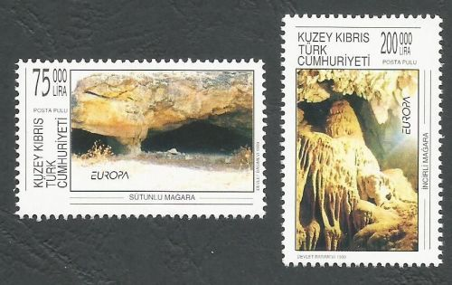 North Cyprus Stamps SG 492-93 1999 Europa Parks - MINT