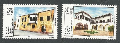 North Cyprus Stamps SG 524-25 2001 Buildings - MINT