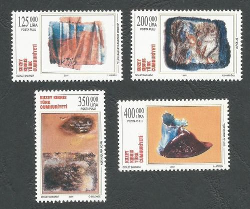 North Cyprus Stamps SG 526-29 2001 Modern Art - MINT