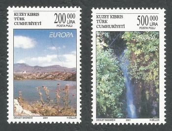 North Cyprus Stamps SG 0530-31 2001 Europa Water - MINT
