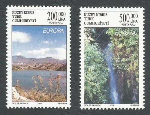 North Cyprus Stamps SG 530-31 2001 Europa Water - MINT