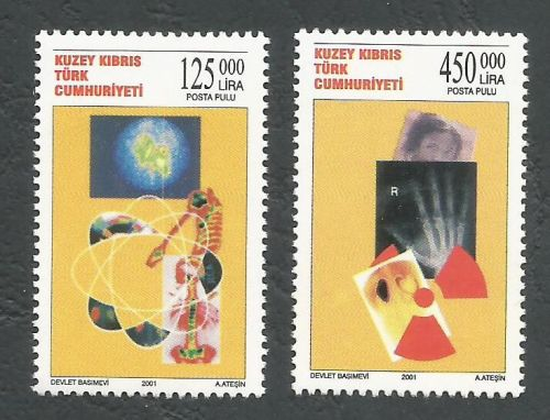 North Cyprus Stamps SG 532-33 2001 Radiation - MINT