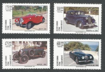 North Cyprus Stamps SG 0538-41 2001 Cars - MINT