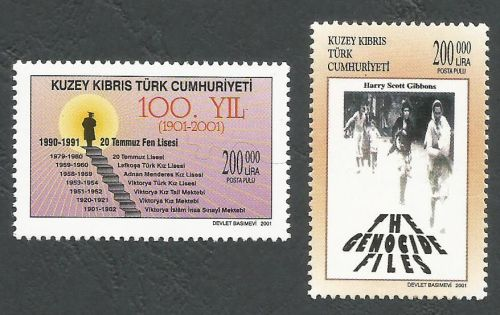 North Cyprus Stamps SG 0542-43 2001 Anniversaries - MINT