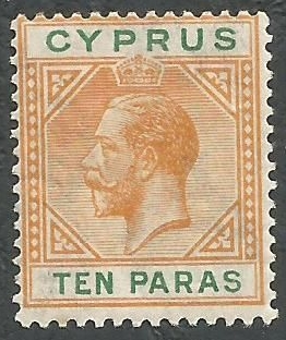 Cyprus Stamps SG 085 1921 10 Paras King George V - MH (k412)
