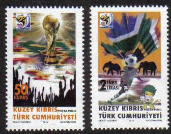 North Cyprus Stamps SG 0708-09 2010 Fifa World Cup South Africa - MINT