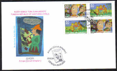 North Cyprus Stamps SG 0702-03 2010 Europa childrens books PAIR - Official