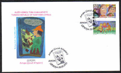 North Cyprus Stamps SG 0702-03 2010 Europa childrens books - Official FDC
