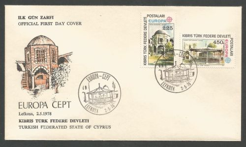 North Cyprus Stamps SG 63-64 1978 Europa - Official FDC (k235) *CLEARANCE*
