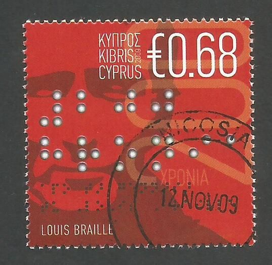 Cyprus Stamps SG 1185 2009 Louis Braille 200th Birth Anniversary - CTO USED