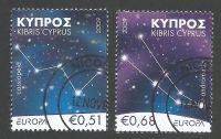 Cyprus Stamps SG 1188-89 2009 Astronomy Europa - CTO USED (k465)