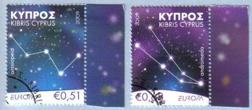 Cyprus Stamps SG 1188-89 2009 Astronomy Europa - CTO USED (e204)