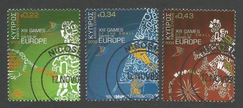 Cyprus Stamps SG 1190-92 2009 XIII Games of the Small States of Europe - CT