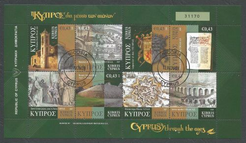 Cyprus Stamps SG 1198-1205 2009 Cyprus Through the Ages Part 3 - CTO USED (