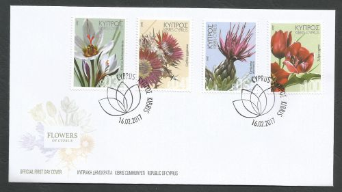 Cyprus Stamps SG 2017 (a) Wild Flowers - Official FDC